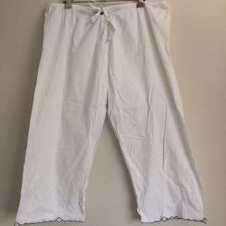 WHITE CULLOTE PANTS