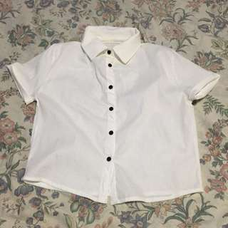 Cropped Button Down Top