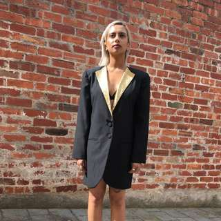 80s Vintage Jacket with Gold Lapel
