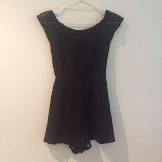 Dotti Black Lace Playsuit