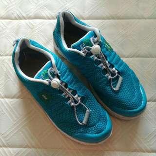 Blue Mesh Sneakers