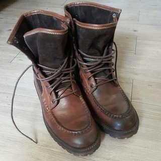 Stefanorossi 高筒皮靴 工作靴 Timberland 可參考