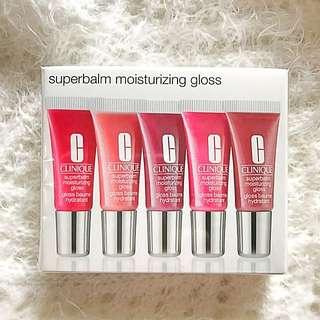 Clinique Exclusive 5 Piece SuperBalm Moisturizing Gloss Gift Set