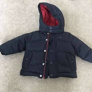 Boy Tommy Hilfiger Puffer Jacket With Removable Hoodie