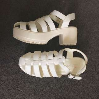 White Chunky Shoes
