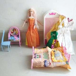 Boneka Barbie Full Set