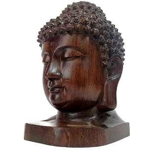 Gautama Buddha Wood Carve Bust