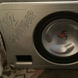 Kenwood Subwoofer And Amplifier -1000w