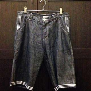 Denim Shorts With A Metallic/ Sparkly Look