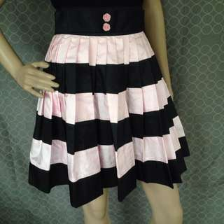 Lisa Ho Pastel Pink & Black Skirt