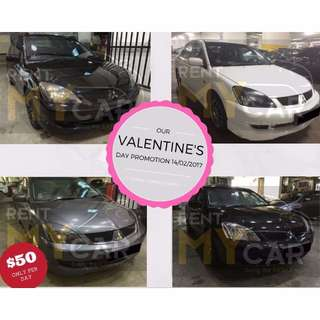 Weekend PROMO $180.00 17/02!  Weekdays PROMO Mitsubishi Lancer $50.00 per day(P-plate Welcome)