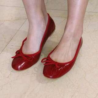紅色平底芭蕾舞鞋 娃娃鞋