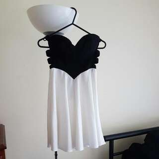 Black & White Bustier Clubbing Dress