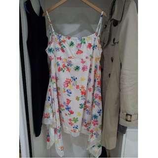 Rainbow Flower Print Dress Size 10