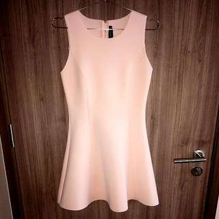 🚚 Romantic Pastel Pink Sleeveless Flare Dress. Ideal For Valentine's Day