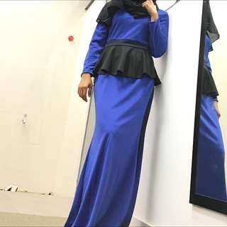 Dress Labuh Electric Blue