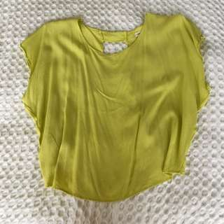 Mika & Gala - Chiffon Bright Yellow Top