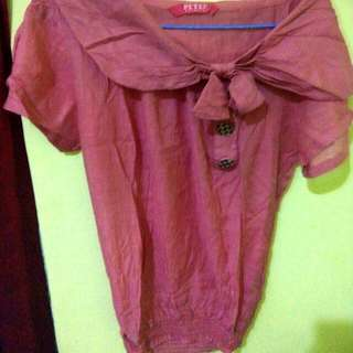 Blouse Pink Cantik All Size