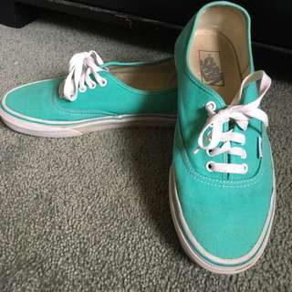 Light Teal Green Vans