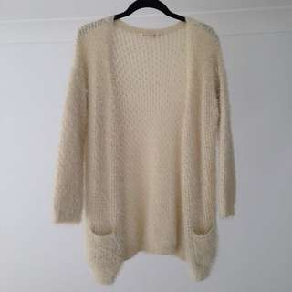 Fuzzy Knitted Cardigan