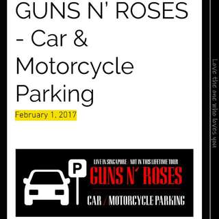 Guns N Roses CAR PARKING LABEL