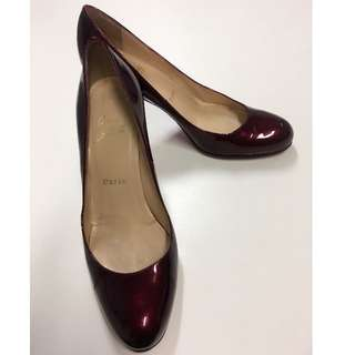 Ladies Christian Louboutin Simple 70 Patent Pumps - Size 37