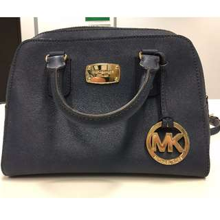 Michael Kors Saffiano Mini Satchel Navy