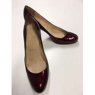 Christian Louboutin Simple 70 Patent Pumps - size 37