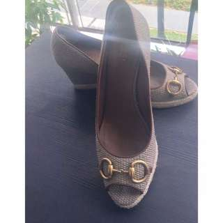 Ladies Gucci Horsebit Wedges
