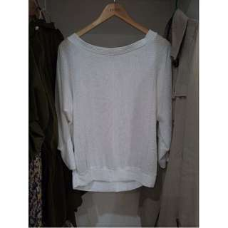 **White Mesh Long Sleeve Top Size S/M
