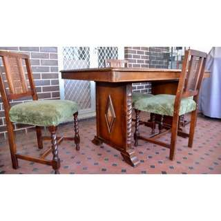 Antique Dining Room Table Set