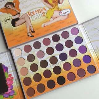 VALENTINE SPECIAL!!!THE BALM TERMIKA 2 EYESHADOW PALLETE 35 COLORS ( free postage )