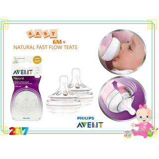 Philips AVENT Natural Teat (Fast Flow) 2pk