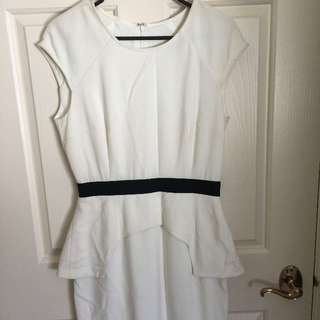 White Suede dress