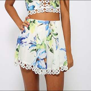 Floral Shorts Size 12