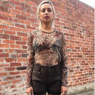 Vintage Brown Suede Shorts