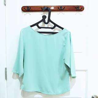 CLOTH INC Tiffany Blue Blouse