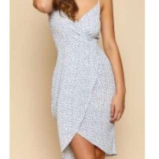 Popcherry White and Blue Dress