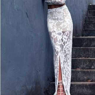 Winona the Label white lace skirt
