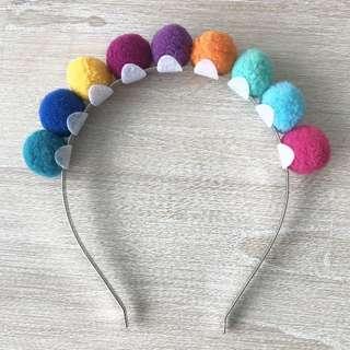SPORTSGIRL Colourful Pom Pom Headpiece