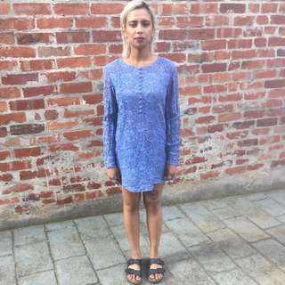 Vintage Blue Mini Dress