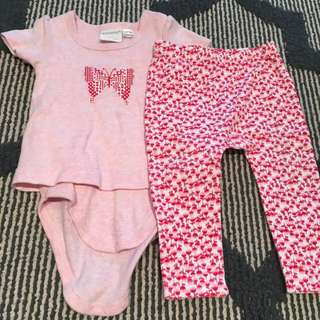 Marquise Girls Tshirt/Legging Set Size 0