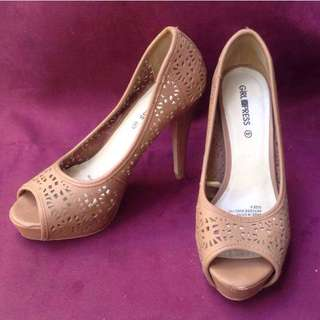 Girlxpress Brown High Heels Shoes