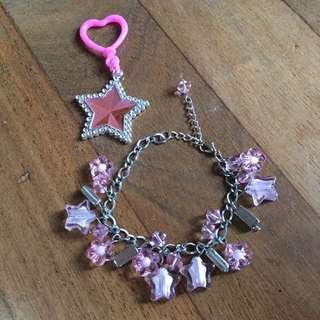 Charm Bracelet And Keychain