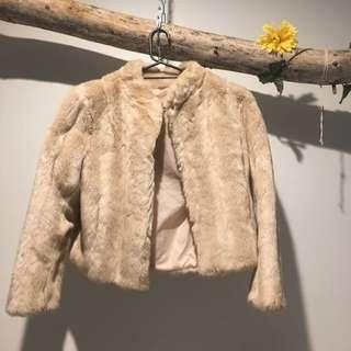 Vintage Faux Fur Crop Jacket Made In Belgium Festival