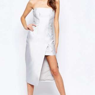 Keepsake the label high rise strapless dress grey
