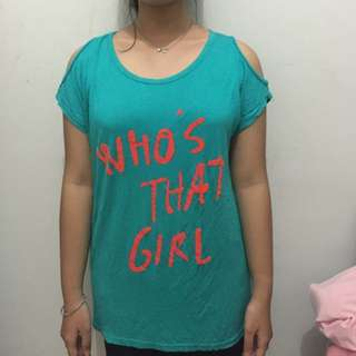 t-shirt (who's that girl )