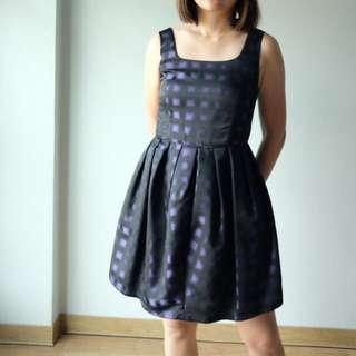 Purple Printed Short Dress