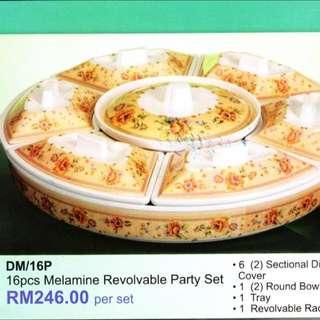 16 Pcs Melamine Revolvable Party Set