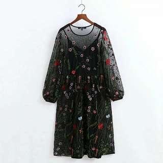重工刺繡洋裝(ww525ww)